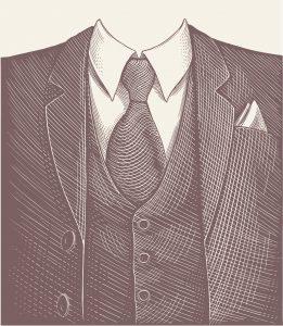 Fig. B. Une pochette de tissu pouvant, le cas échéant, faire office de mouchoir.