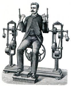 Fig. A. Machine à réformer l'orthographe et son réformateur en chef. Année inconnue.