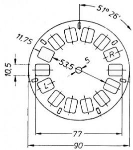 Fig. 2. Schéma disque View-Master.