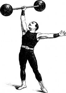 Fig F.  Fort en gueule faisant montre de sa force. Commun.